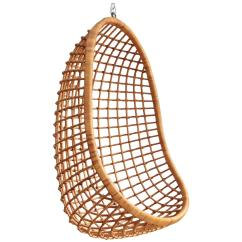 Hanging Chair Cane Chairs For Shower Elderly Rohe Noordwolde Rattan Egg At 1stdibs