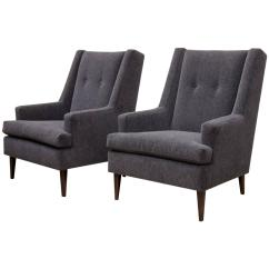 Chairs For Tall Man Swivel Chair Yeah Pair Of Edward Wormley Quottall Quot Dunbar