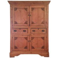 Wonderful Antique Rustic Pine Linen Press Cabinet at 1stdibs
