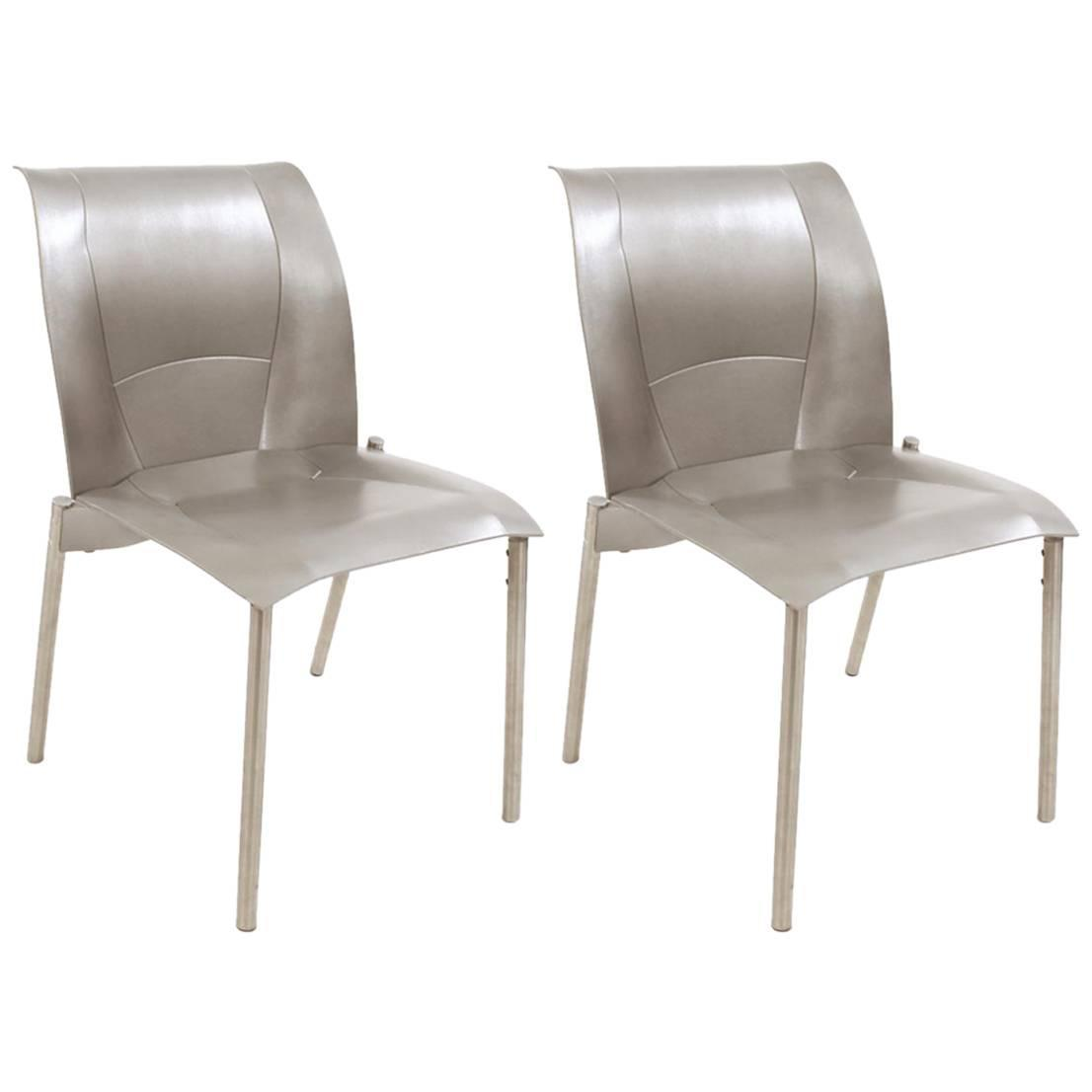 frank gehry chair light oak dining chairs pair of vintage knoll fog for sale at