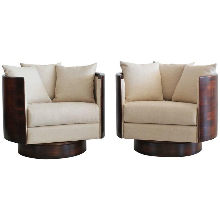 swivel chairs for sale nat's fishing chair bfa hancock barrel back at 1stdibs