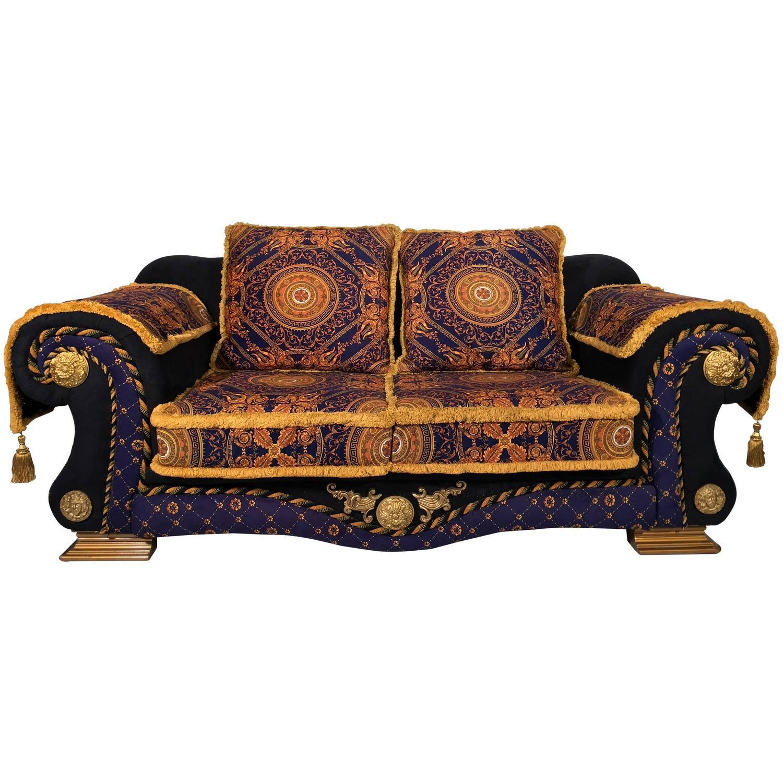 versace sofa mogensen 2209 1980 italian design, néo barocco velvet sofa, ...