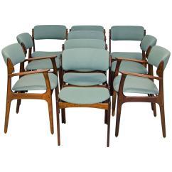 Erik Buck Chairs Retro Diner Uk Set Of Ten Danish Rosewood Dining By At