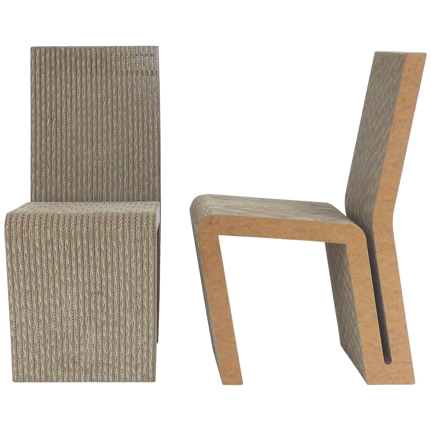 frank gehry cardboard chair baby swing seat side chairs for sale at 1stdibs