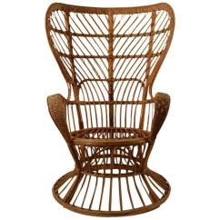 Fan Back Wicker Chair Yoli Linens And Covers By Lio Carminati At 1stdibs For Sale