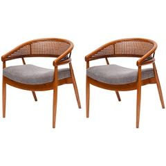 wicker rocking chair pier one husk replica rare ilmari tapiovaara