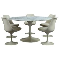 Tulip Dining Room Chairs Chair Seat Covers Argos Table And Set Of Five Seats By Eero