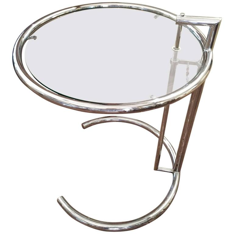 Eileen Gray Adjustable Chrome Side Table At 1stdibs
