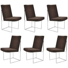 milo baughman dining chairs giant pillow chair set of six designed by at 1stdibs thayer coggin