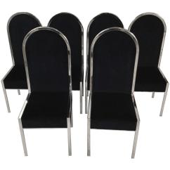 Dining Chairs Italian Design Outdoor White Rocking Chair Set Of Six For Sale At 1stdibs