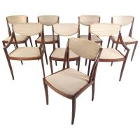 Mid-Century American Walnut Dining Chairs by Drexel For ...
