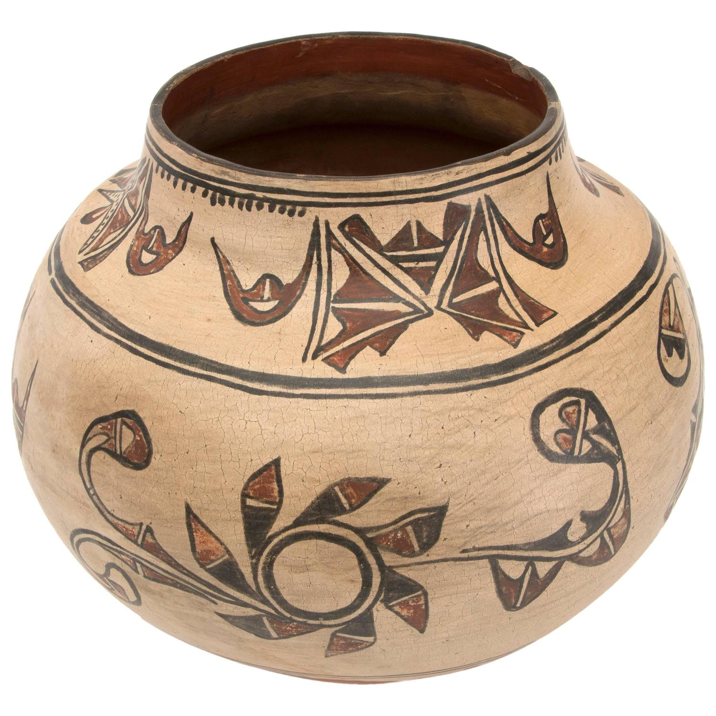 Antique Native American Pottery Jar San Ildefonso Pueblo
