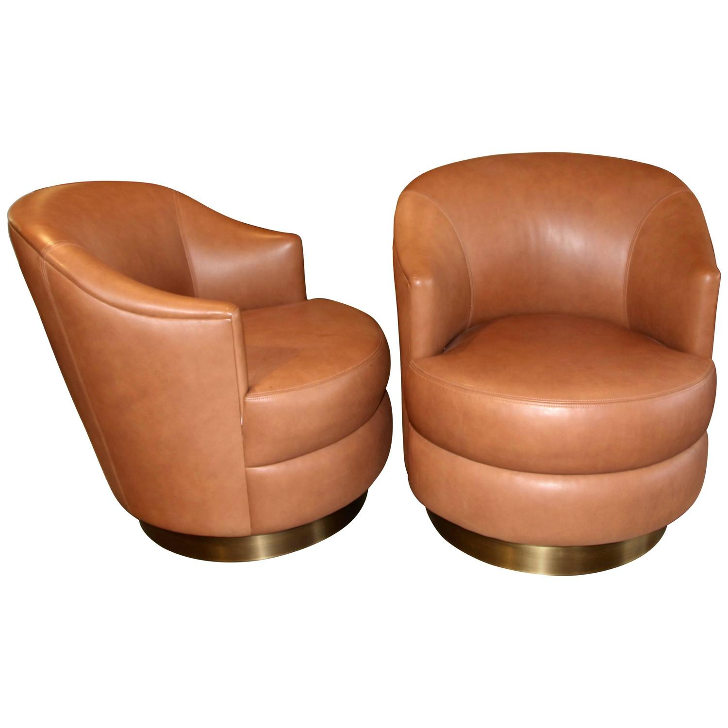 swivel chairs for sale wholesale lycra chair covers australia a rudin leather with brass base ordered by