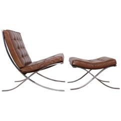 Mies Van Der Rohe Barcelona Chair Fire Pit Table And Chairs Ottoman By For Knoll Sale