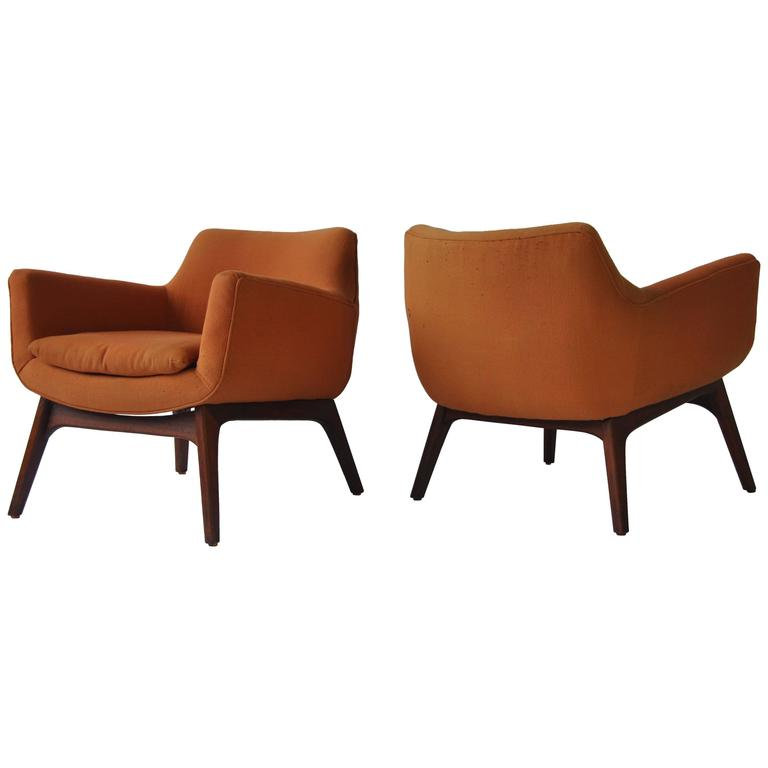adrian pearsall lounge chair desk rubber wheels pair of sculptural chairs at 1stdibs