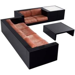 Baseball Leather Sofa Bed Bestway 5 In 1 Lella And Massimo Vignelli Illuminated Living Room Set For