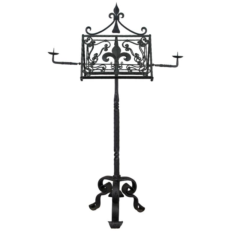 19th Century French Wrought Iron Lectern For Sale at 1stdibs