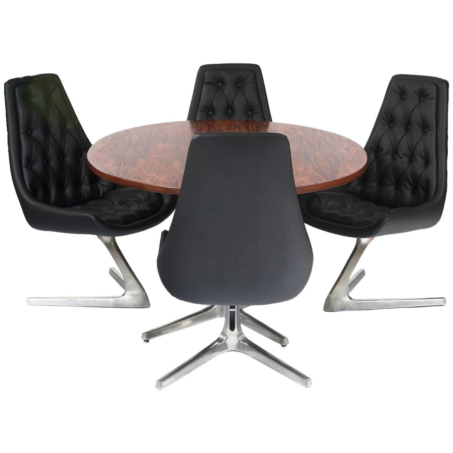 tables and chairs fancy office chromcraft sculpta dining table for sale at 1stdibs
