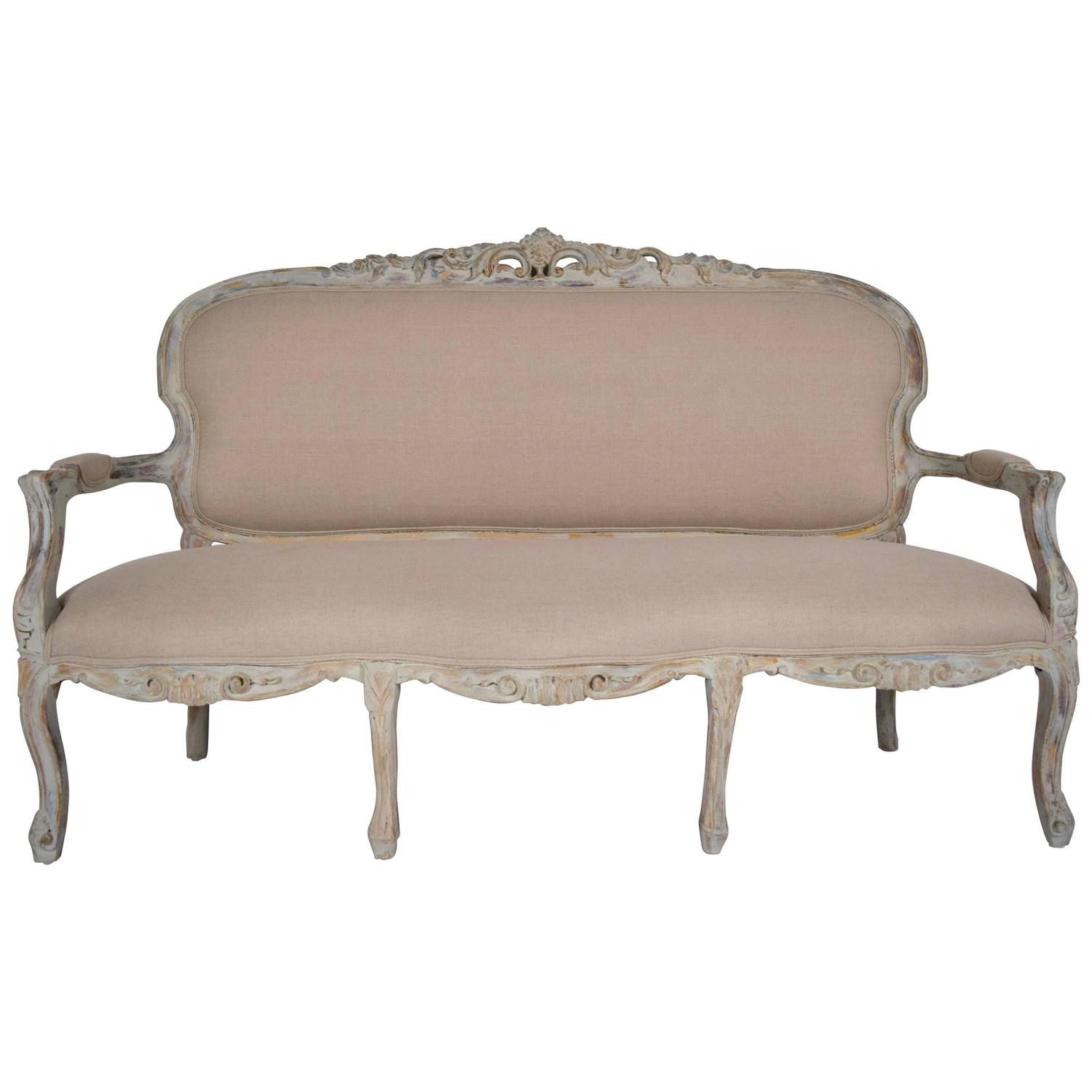french style sofas for sale sofa los angeles yelp antique louis xv gilt painted carved
