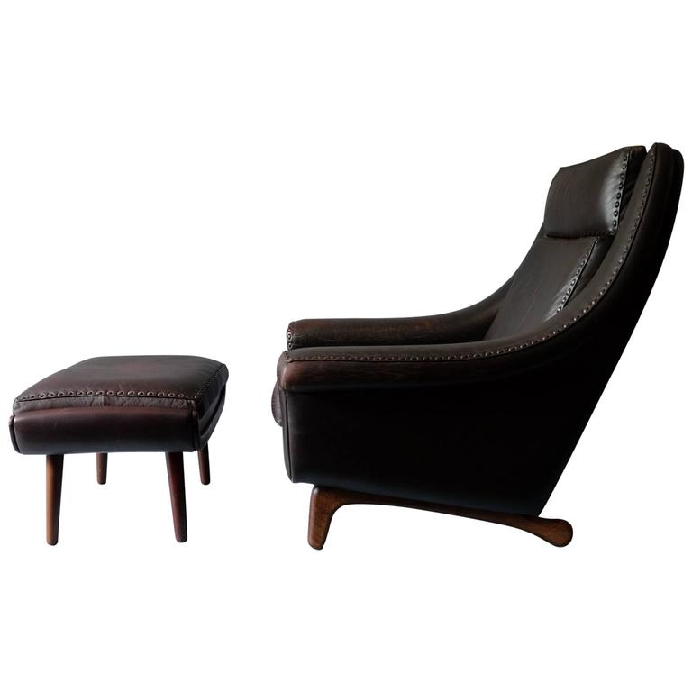 adrian pearsall rocking chair car seat office aage christiansen 'matador' lounge and ottoman at 1stdibs