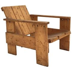 Gerrit Rietveld Crate Chair Silver Lounge 1950s By Unknown Manufacturer
