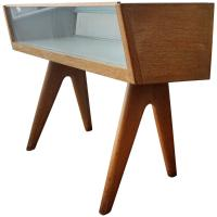 Mid-Century Cerused Oak Store Display Cabinet at 1stdibs