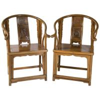 Antique Chinese Horseshoe Chairs, 19th Century For Sale at ...