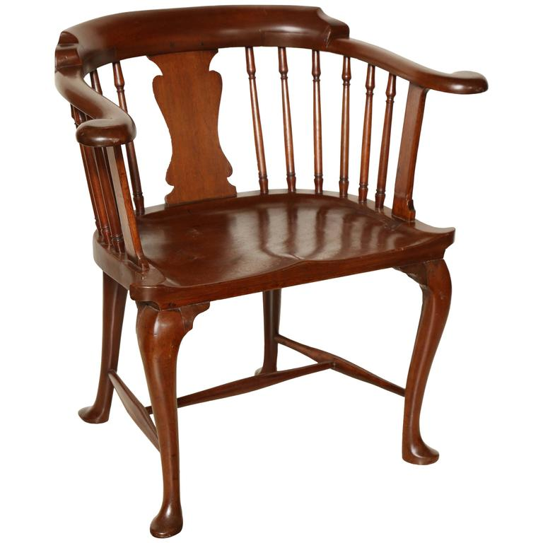 captains chair repair outside chairs rare mahogany captain s at 1stdibs for sale