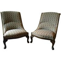 Beautiful Antique Nursing Chairs Armchairs Button Back ...