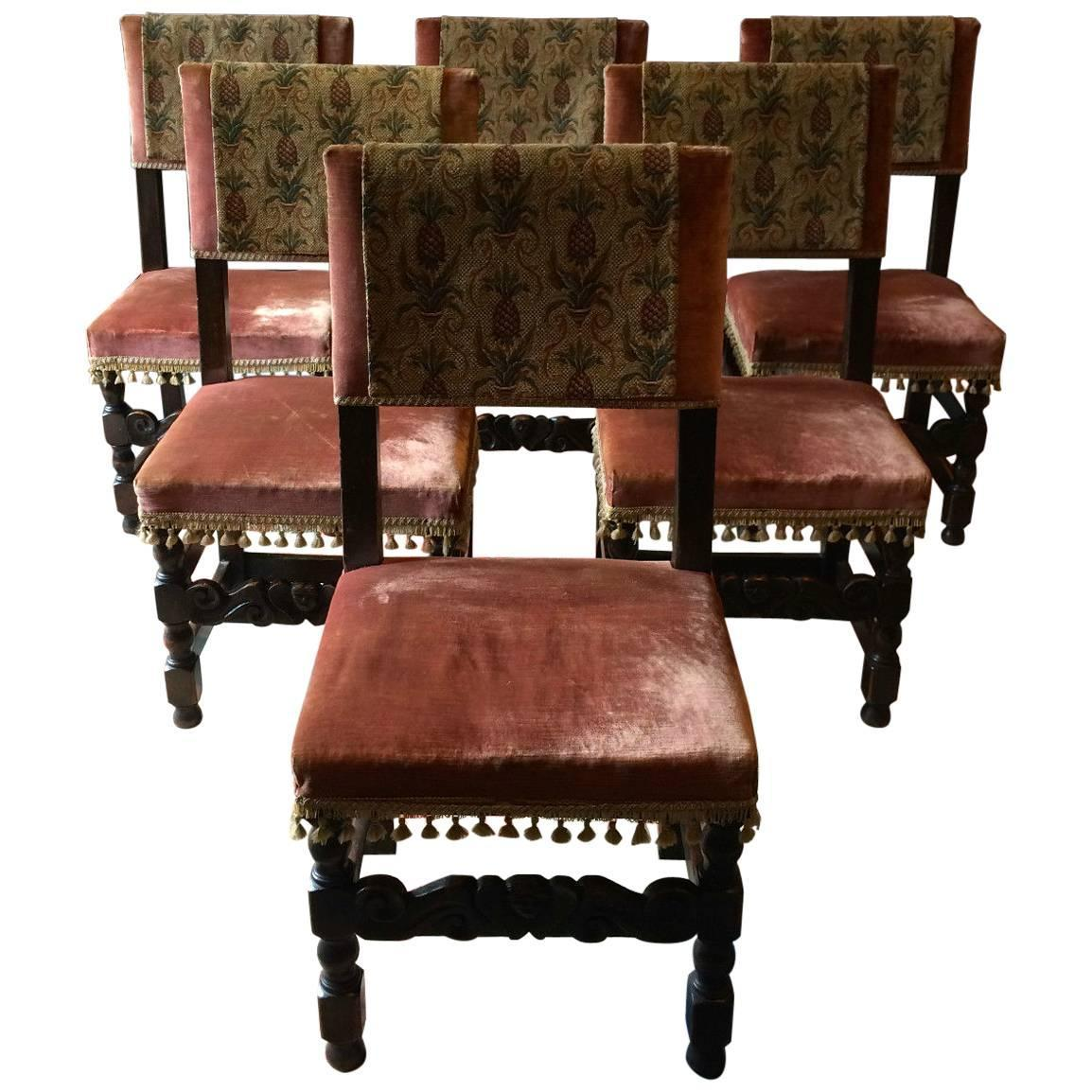victorian style chair covers bean bag with ottoman antique dining chairs six oak leather 17th