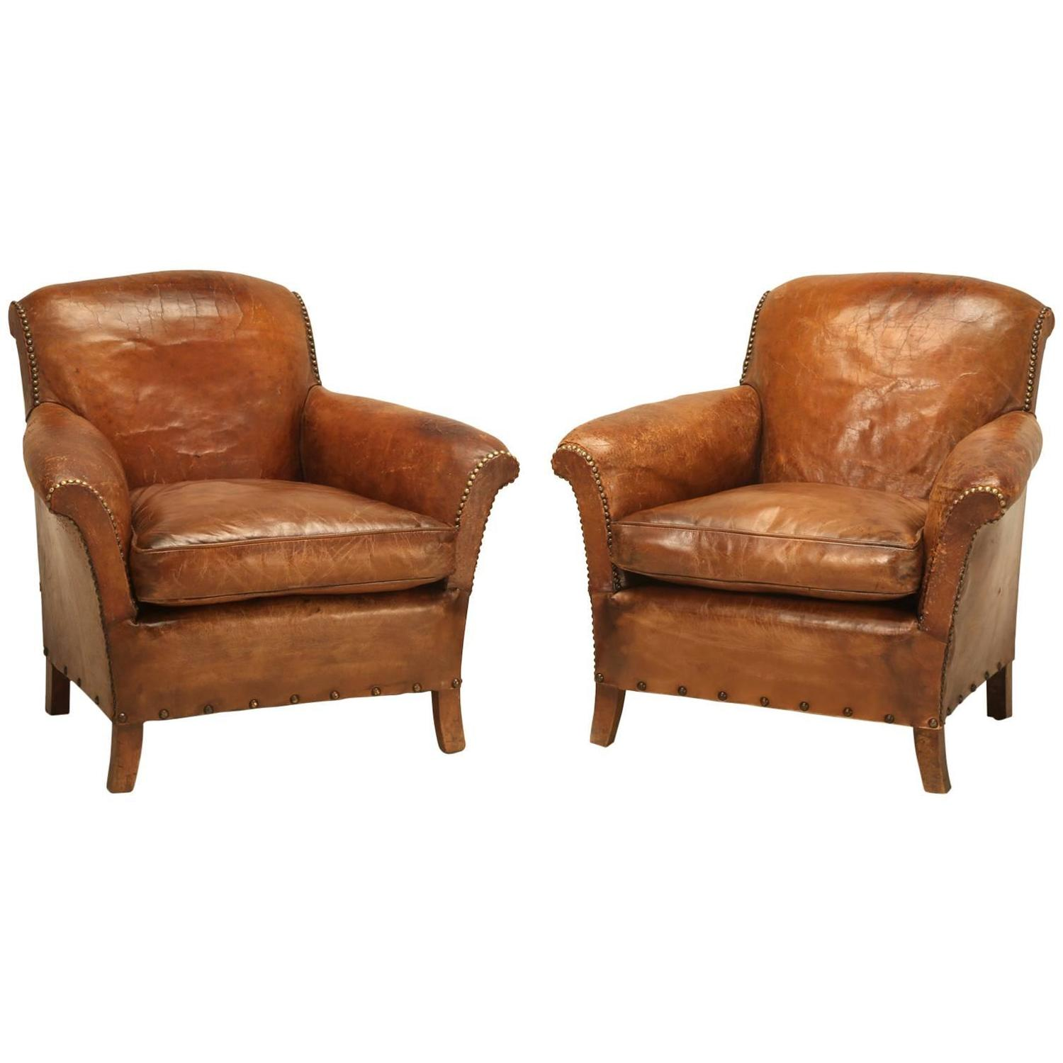 leather club chairs for sale walmart bistro table and french art deco restored at