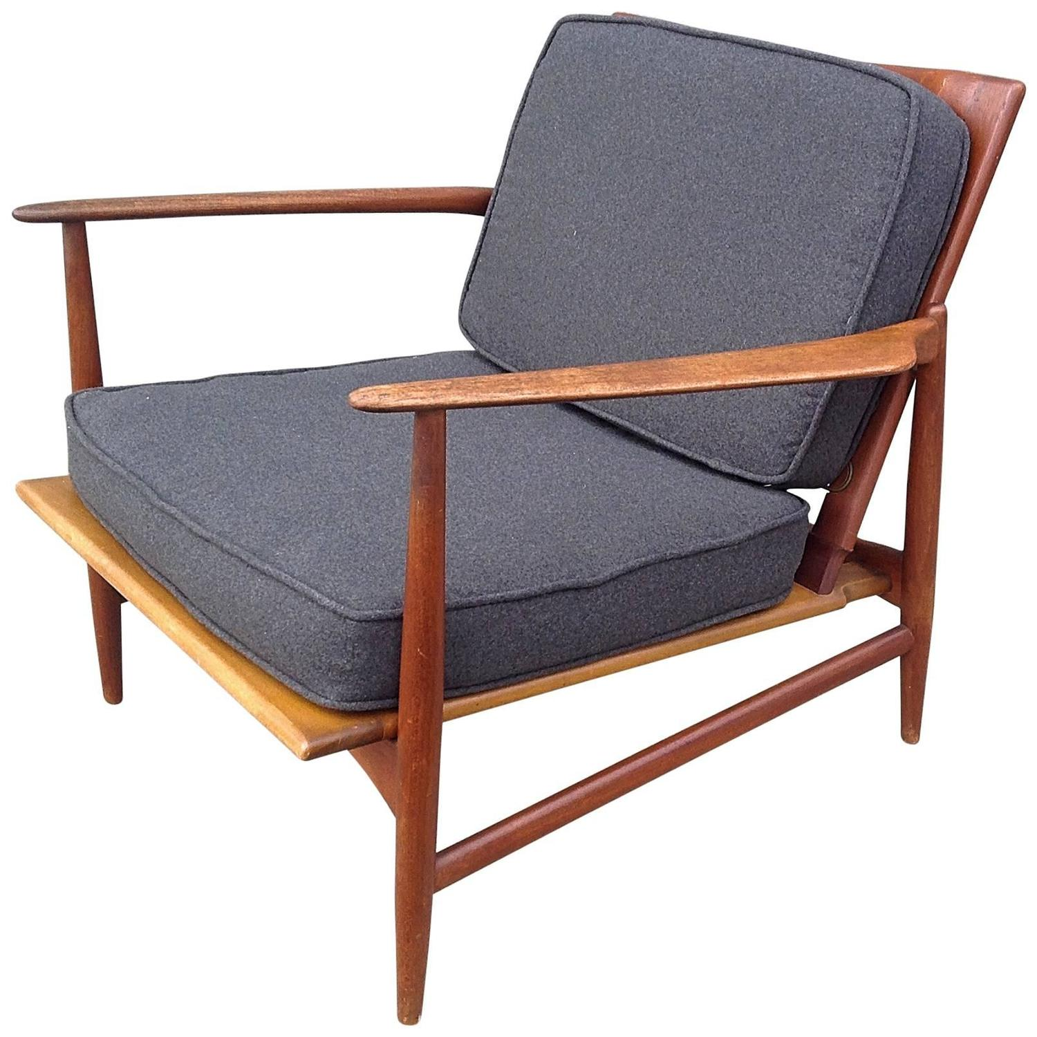 Selig Lounge Chair Ib Kofod Larsen For Selig Teak Lounge Chair For Sale At