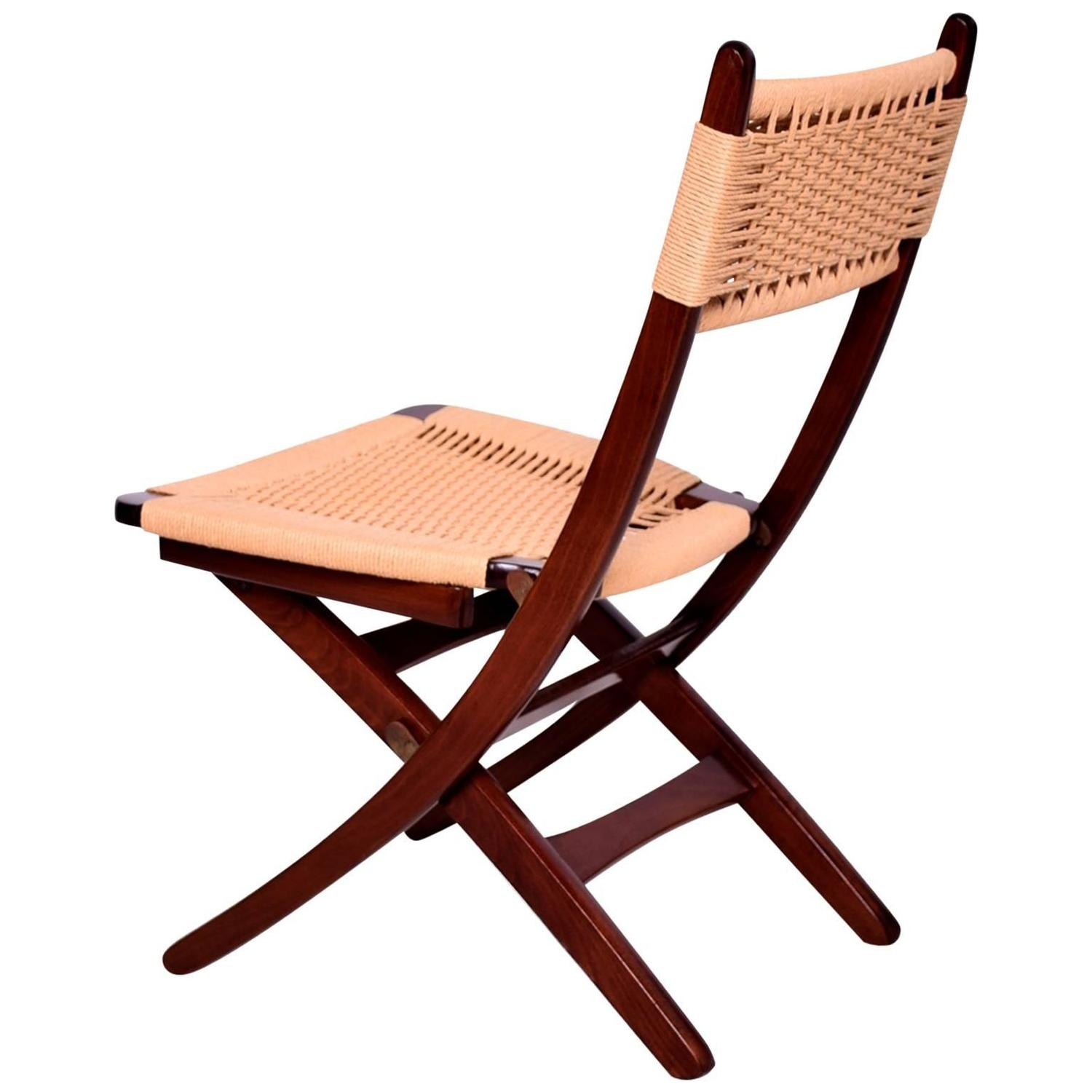 modern folding chair used table and chairs for sale mid century danish rope wegner style