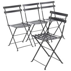 Fermob Bistro Chair Directors Covers Big W Set Of Four French Folding Metal Side Chairs By