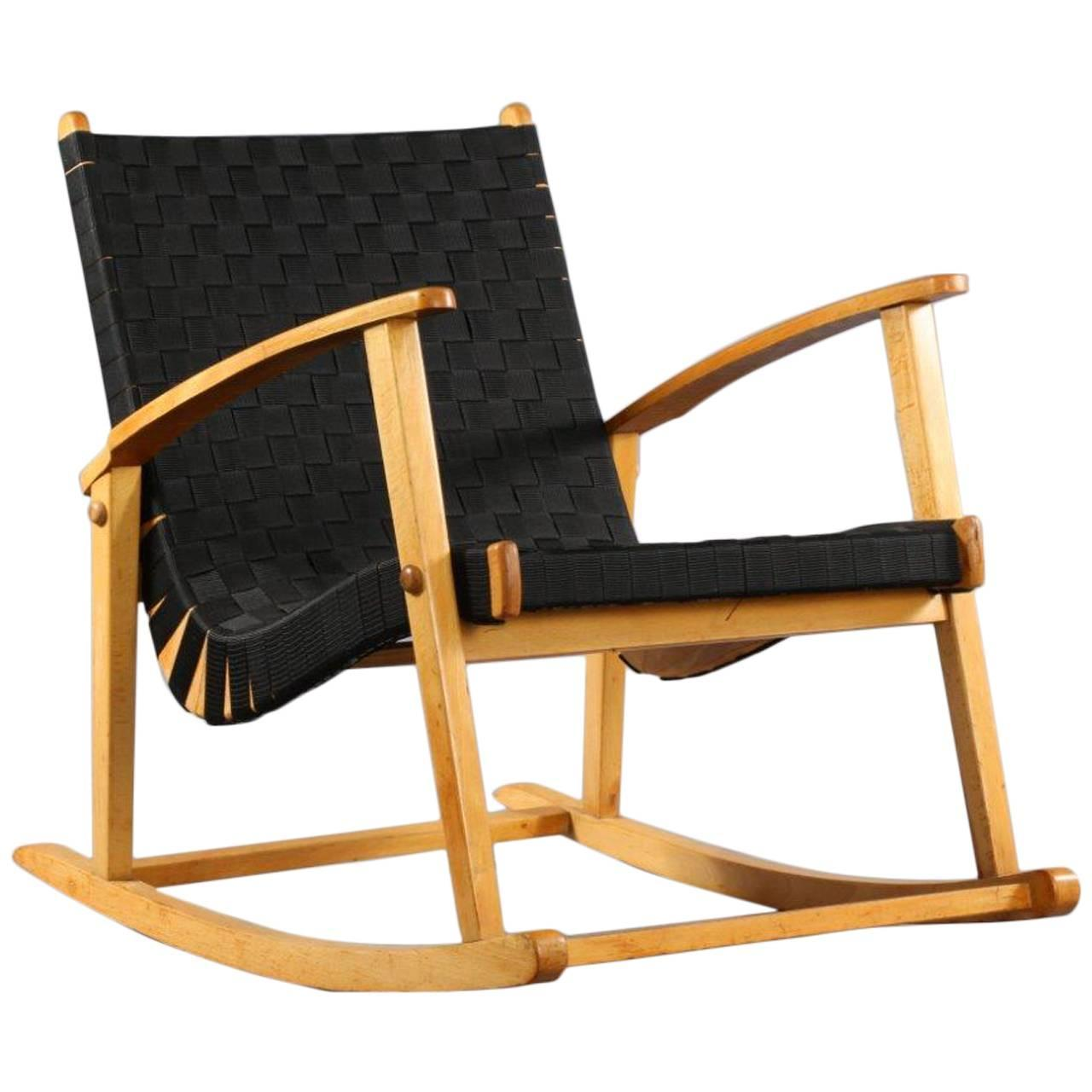 Comfortable Rocking Chair Comfortable Rocking Chair Attributed To Jens Risom 1950