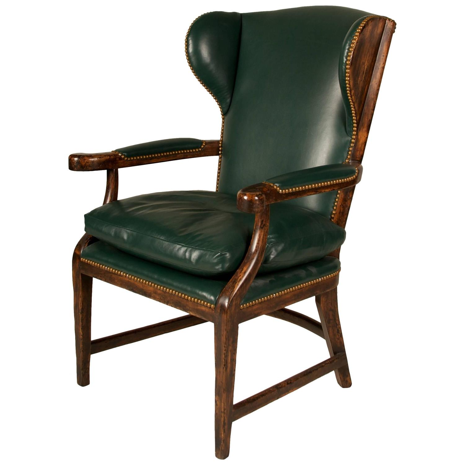 country style wingback chairs iron kitchen 20th century english house chair for sale