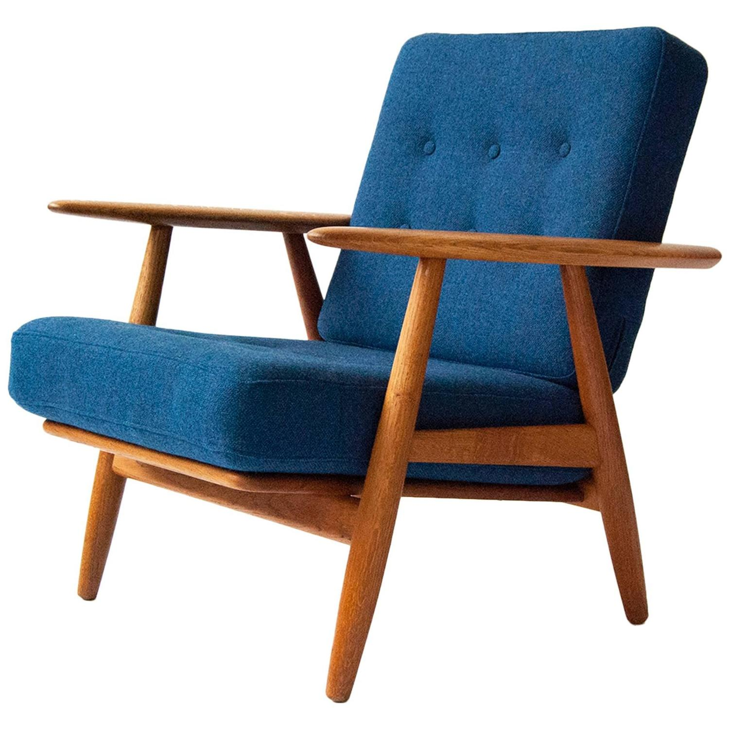 Cigar Lounge Chairs Hans J Wegner Ge 240 Oak 39cigar 39 Chair Circa 1955 At 1stdibs