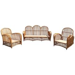 Heywood Wakefield Wicker Chairs Folding Patio Antique Stick Set For Sale At 1stdibs
