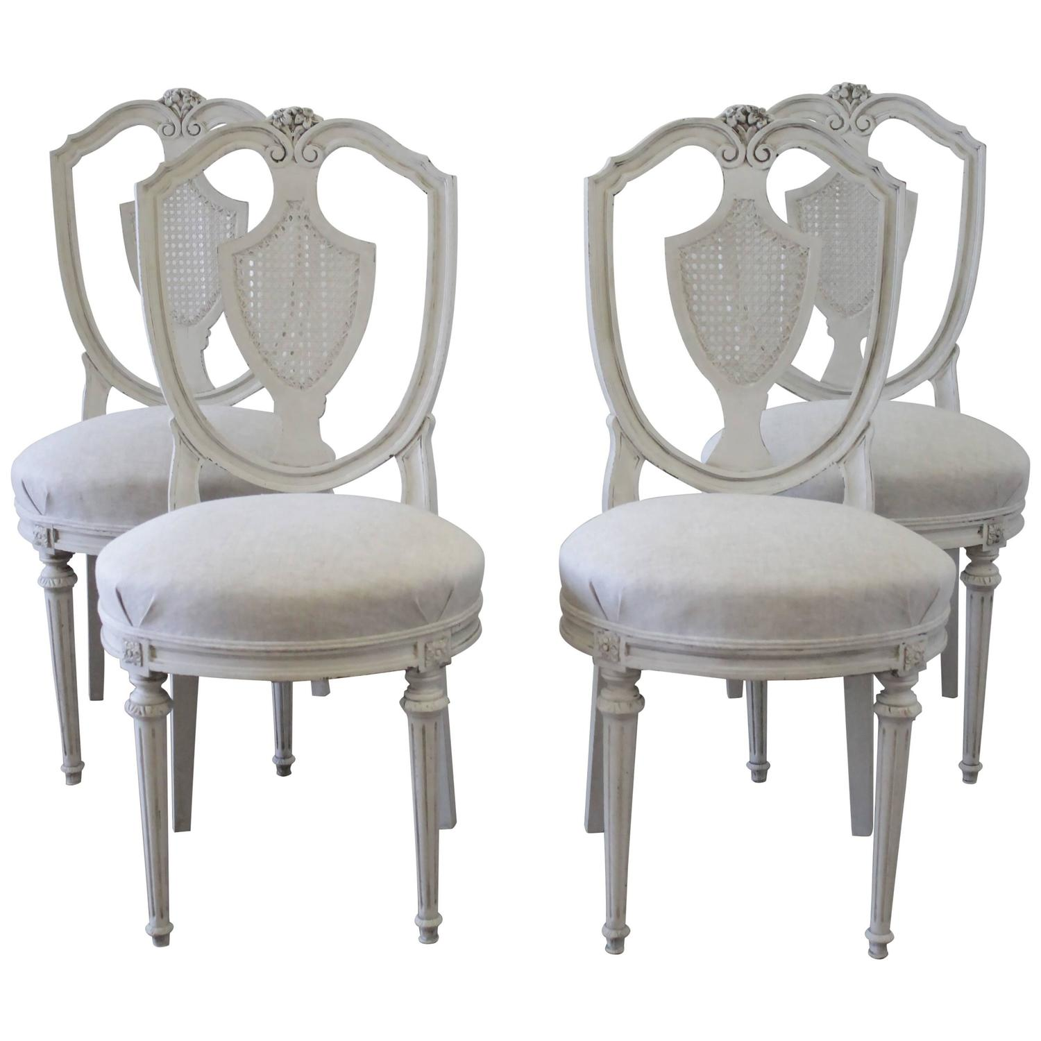 antique cane dining room chairs folding chair travel set of four french for sale at