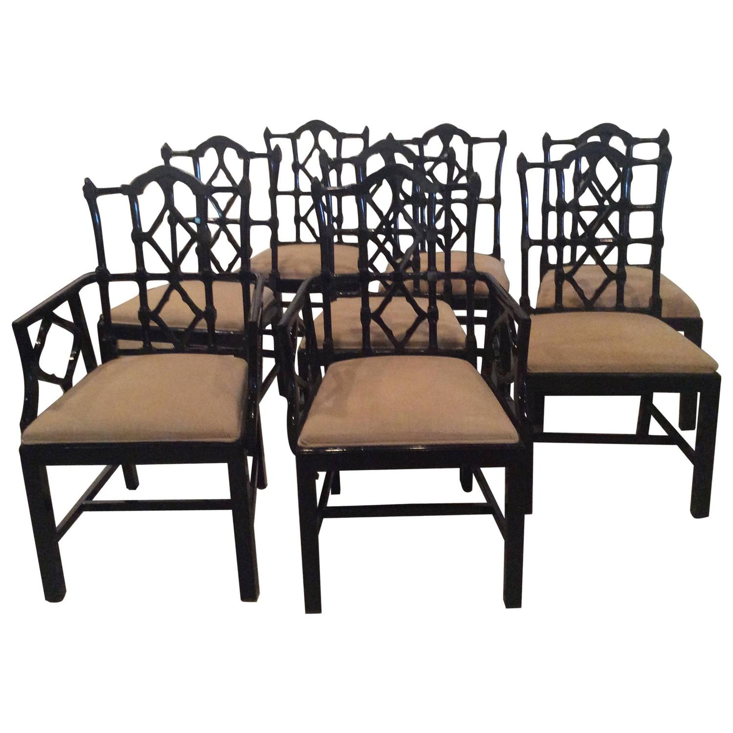chippendale dining chair modern outdoor chairs australia chinese vintage set of eight