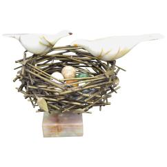Birds Nest Chair Fancy Office Bird Sculpture By Curtis Jere For Sale At 1stdibs