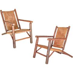 Hickory Chairs For Sale Wedding Chair Cover Hire Near Me Rare Pair Of Old Lounge At 1stdibs