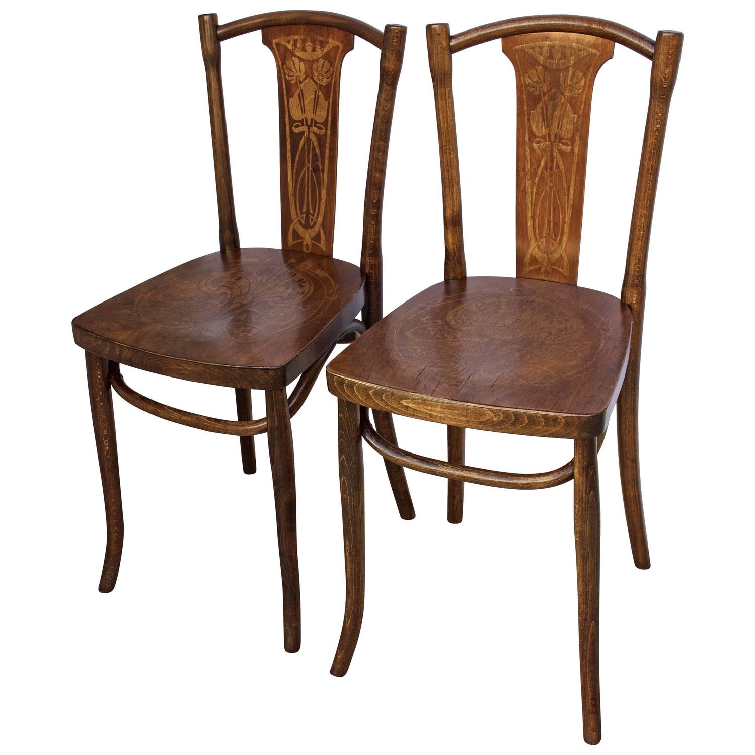 french bentwood cafe chairs modern bucket 19th century pair of thonet bistro at 1stdibs