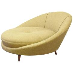Circular Lounge Chair Replacement Slings Australia Large Round By Milo Baughman At 1stdibs