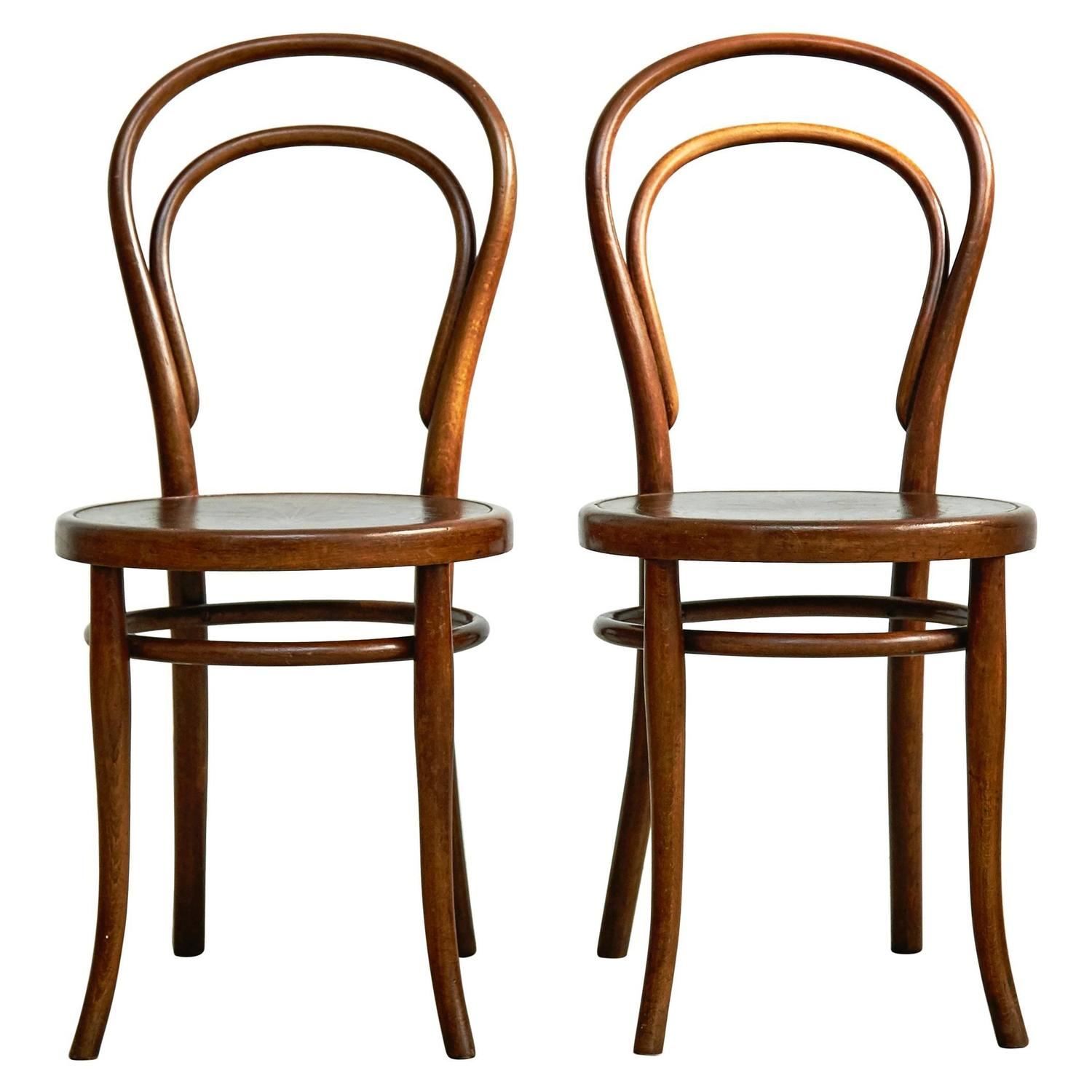 thonet chair styles dinette tables and chairs pair of by august for circa 1900