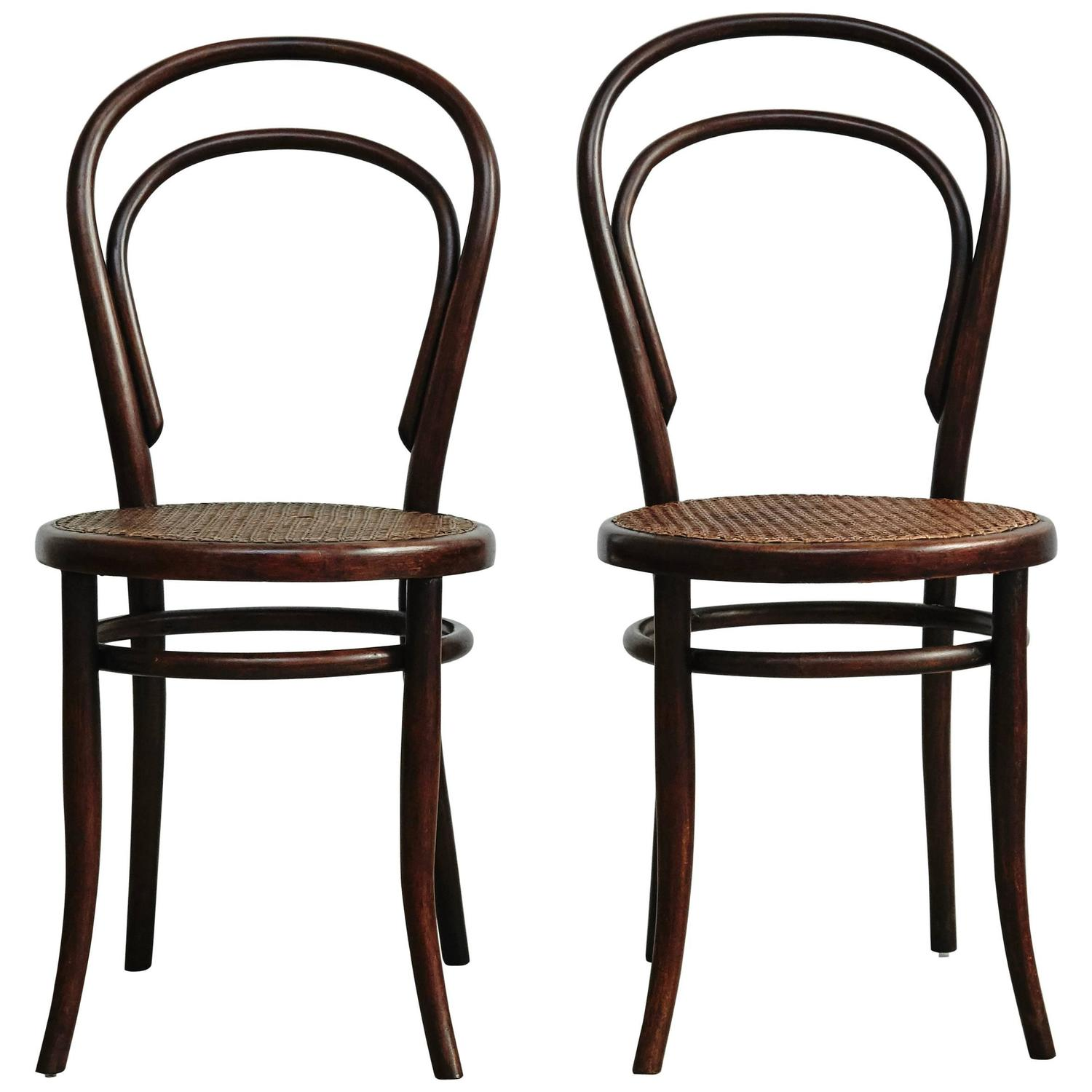 thonet chair styles crown royal pair of chairs in the style by unknown designer
