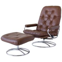 Stressless Chairs Lightweight Aluminum Patio Ekornes Chair And Ottoman For Sale At 1stdibs