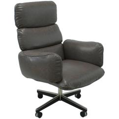 Grey Leather Desk Chair Alera Office Otto Zapf For Knoll International Executive
