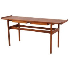 Teak Sofa Table Rowe Sofas Early Jens Risom Solid Console Or At 1stdibs For Sale