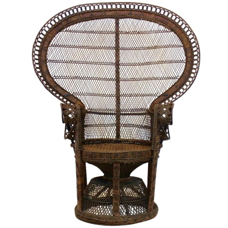 rattan peacock chair swing lahore iconic 1970s at 1stdibs for sale